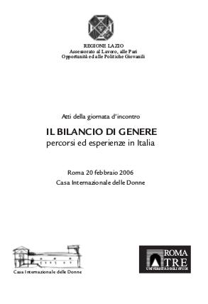 Il bilancio di genere: percorsi ed esperienze in Italia