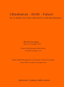 welfare: cittadinanza diritto futuro