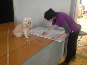 Irene Iorno con il suo cagnolino