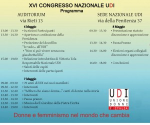 Programma del 16° Congresso dell'Udi