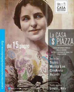 Spiazza alla Casa Internazionale delle Donne a Roma