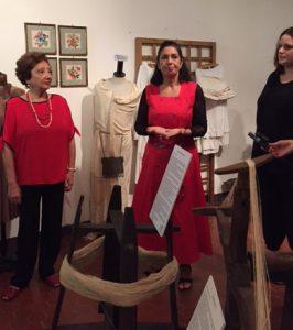da sinistra a destra Gabriella Anselmi, Fiorenza taricone e la vicestindaca del comune Alto Reno Terme Bologna