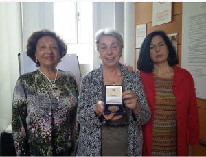 Anselmi,Fiorensoli, Taricone con la medaglia del Presidente della Repubblica