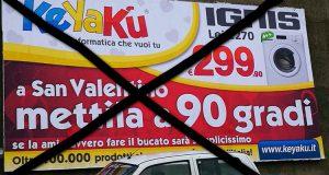 una pubblicità che deve essere cancellata, rimossa, non permessa come ha fatto il sindaco di Cosenza